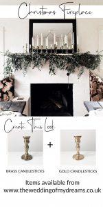 christmas fireplace styling ideas