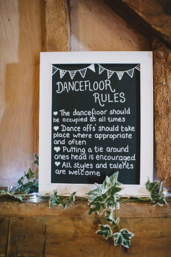 dancefloor-rules-wedding-signs-The-Wedding-of-my-Dreams