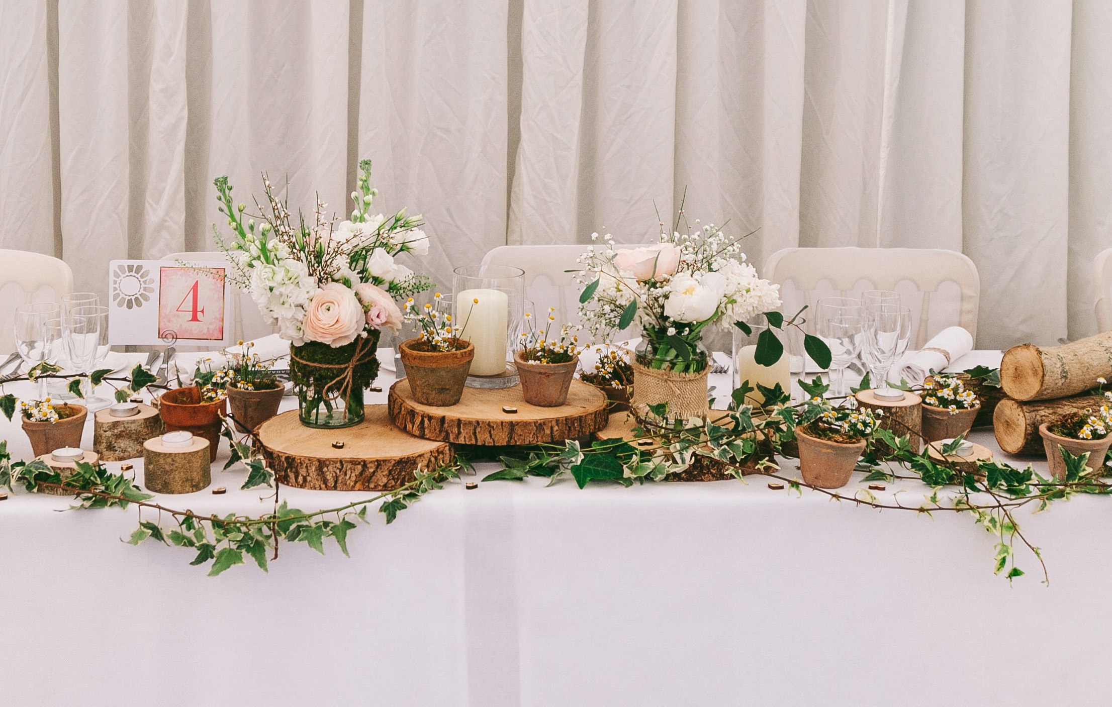 Amazing Rustic Woodland Wedding Top Table Ideas - Shop The Look