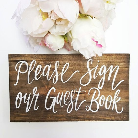 wedding guest book signs The Wedding of my Dreams (1)