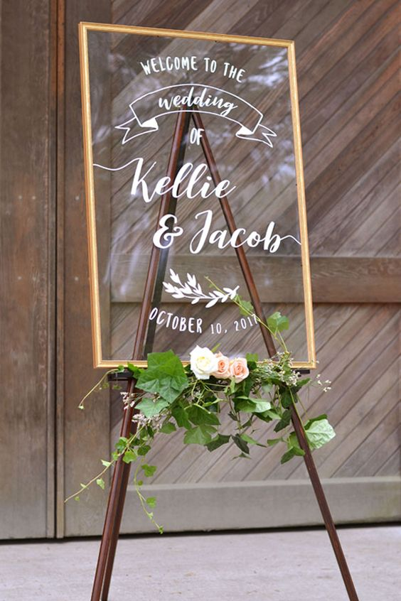wedding perspex welcome signs The Wedding of my Dreams (2)