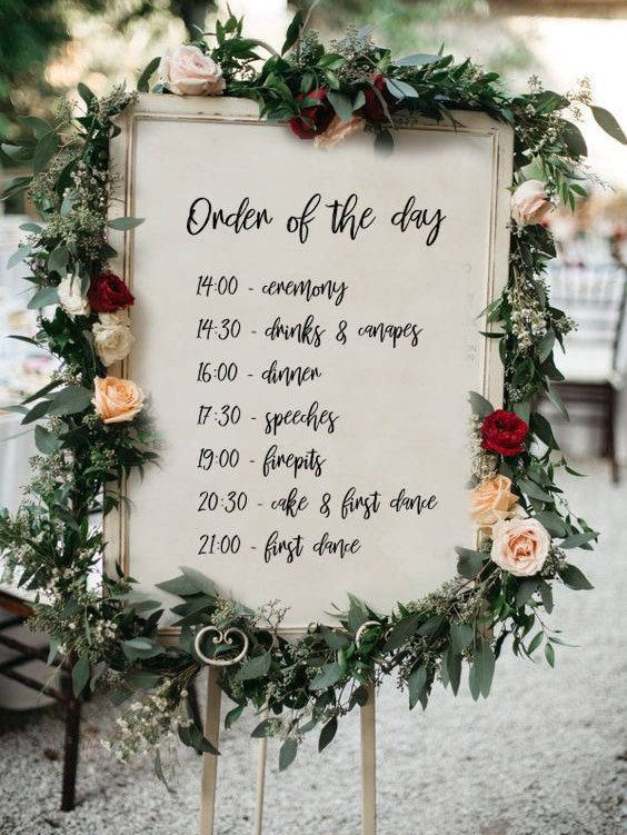 wedding signs order of the day The Wedding of my Dreams (2)