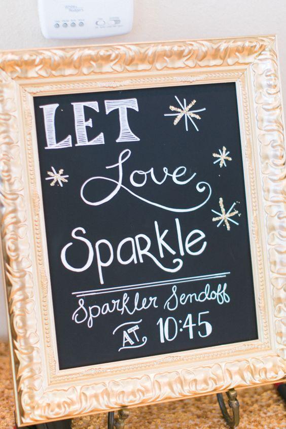 wedding signs sparkler send off The Wedding of my Dreams (1)
