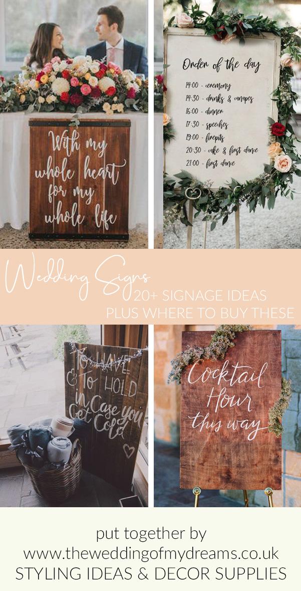 20 + wedding sign ideas The Wedding of my Dreams