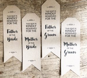 Wedding reserved seating signs download and print