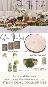 rustic woodland top table styling for barn weddings