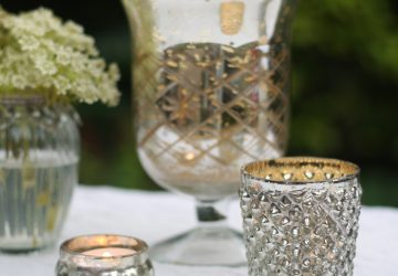 silver tea light holders wedding styling