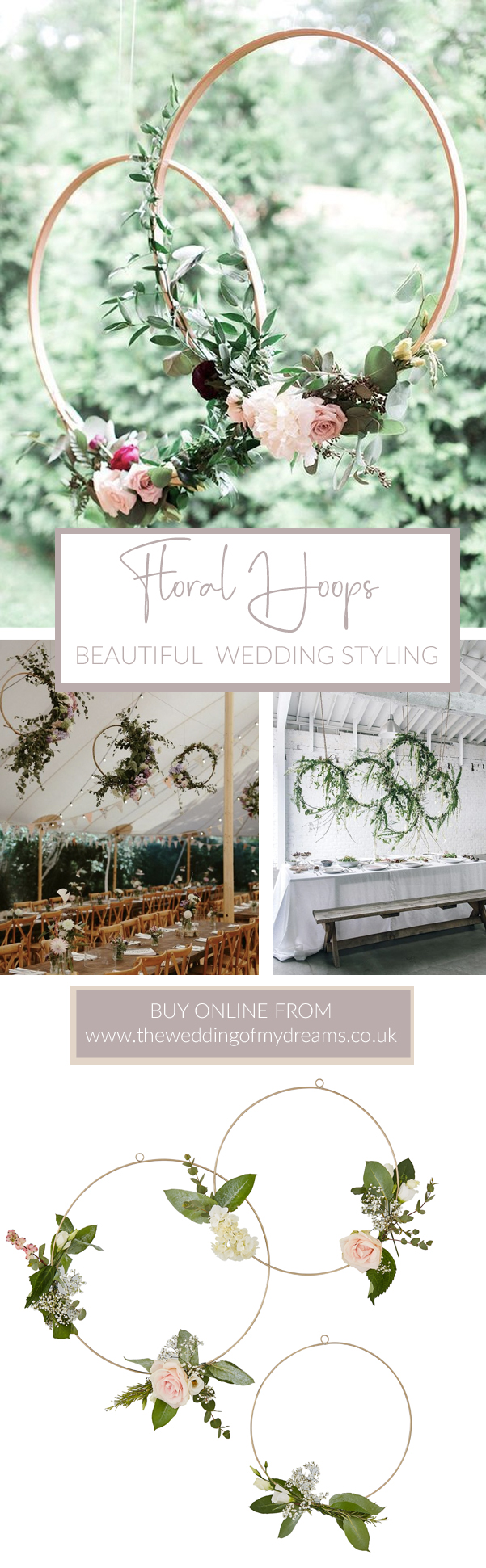 FLORAL HOOPS wedding styling ideas from the wedding of my dreams