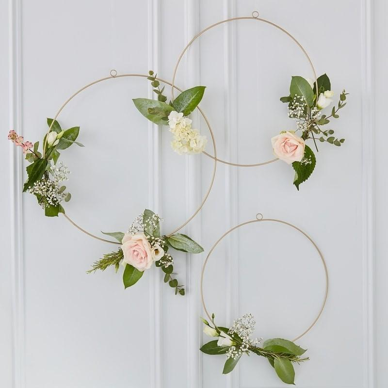 floral wedding hoops gold frames available to buy the wedding of my dreams