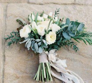 silk ribbons wedding styling ideas - wedding bouquets