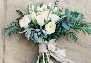 silk ribbons wedding styling ideas - wedding bouquets