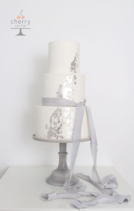 silk ribbons wedding styling ideas - wedding cakes