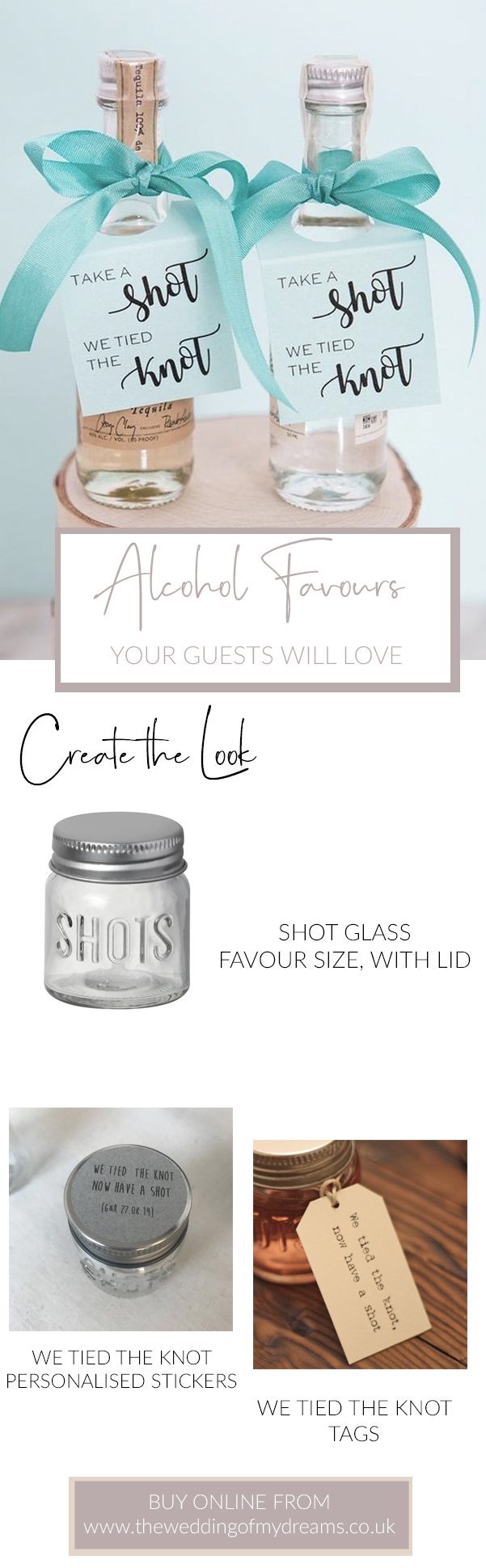 Alcohol Shot wedding favours The Wedding of my Dreams