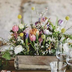 WOODEN BRICK MOULD WEDDING CENTREPIECES FLOWERS
