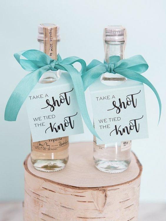 Alcohol Wedding Favours Shots For Everyone UK Wedding