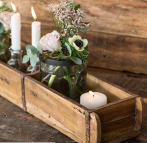 brick moulds wooden boxes of candles