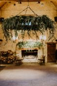 foliage giant hanging rings wedding styling