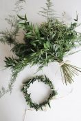 foliage green wedding bouquet flower crowns