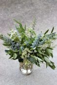 foliage green wedding centrepieces in jars