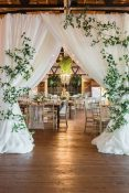 foliage greenery framing curtains wedding ideas