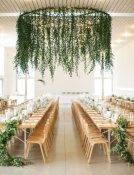 greenery foliage hanging wedding flowers statement wedding ideas
