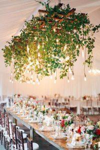 marquee hanging wedding flowers ideas