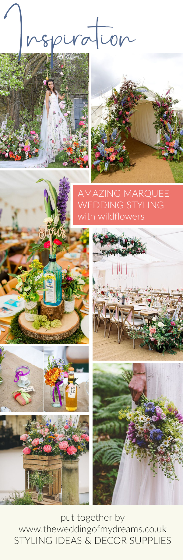 marquee wedding ideas with bright wildflowers hanging designs venue styling decorations The Wedding of my Dreams