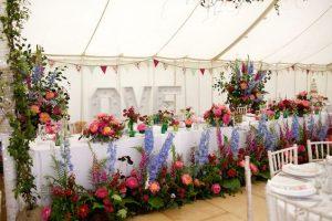 marquee wildflower wedding styling ideas