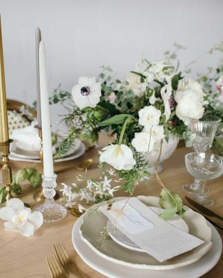 pressed glass and stone soft wedding colour palette pressed glass candlesticks available from The Wedding of my Dreams
