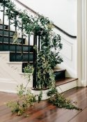 staircase flowers foliage greenery