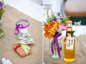 wild flowers wedding favours marquee wedding