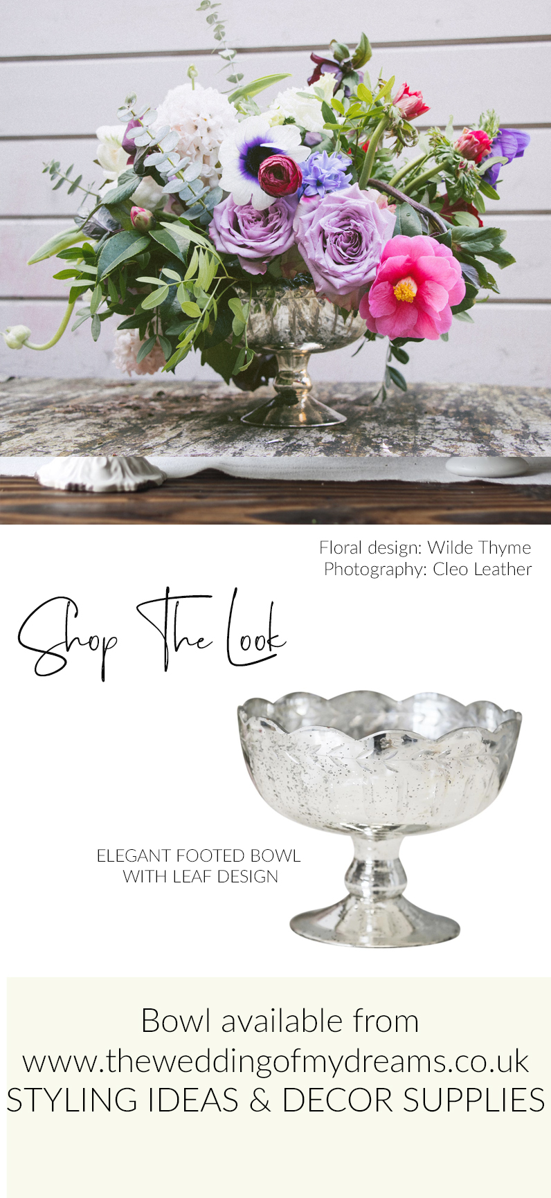 Footed bowl wedding centrepieces vases shop the look The Wedding of my Dreams