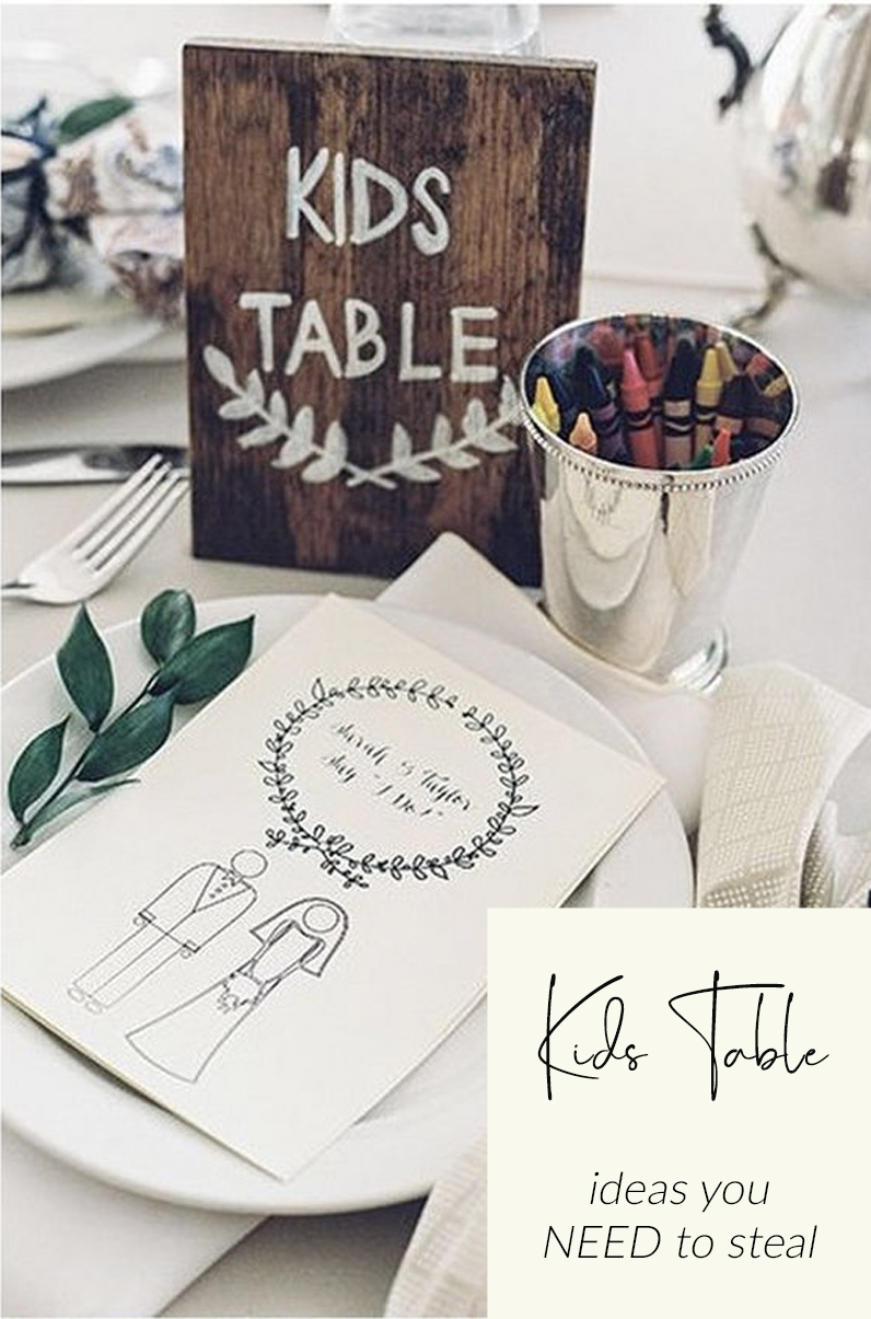 Kids table wedding centrepiece ideas you need to steal