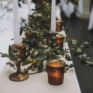 Bronze table styling wedding inspiration