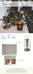 Bronze table styling wedding inspiration shop the look