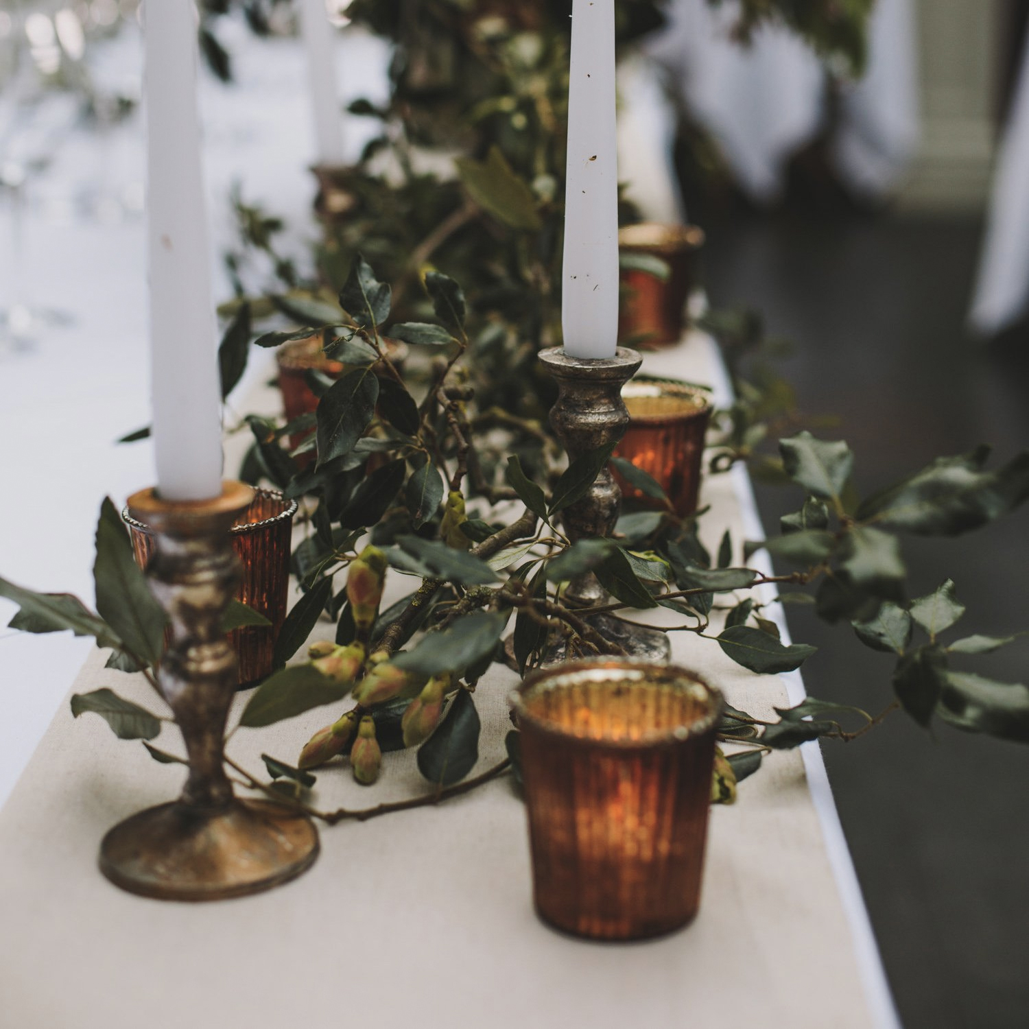 Bronze table styling wedding inspiration