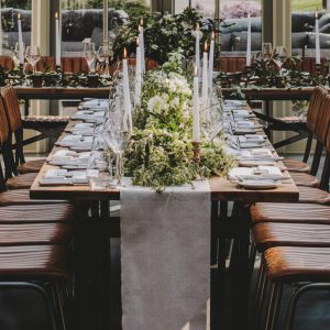 Natural cotton table runners for weddings