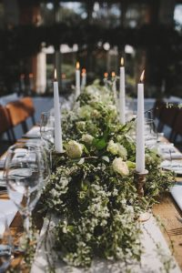 epic garlands long wedding tables by Passion for Flowers