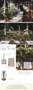 long table garlands with brass accent decor shop the look www.theweddingofmydreams.co