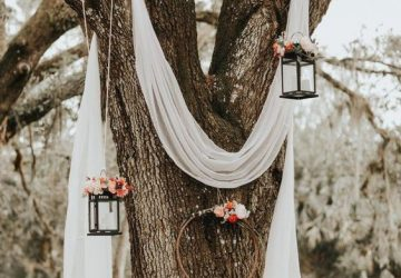 outdoor wedding styling ideas ceremony under a tree