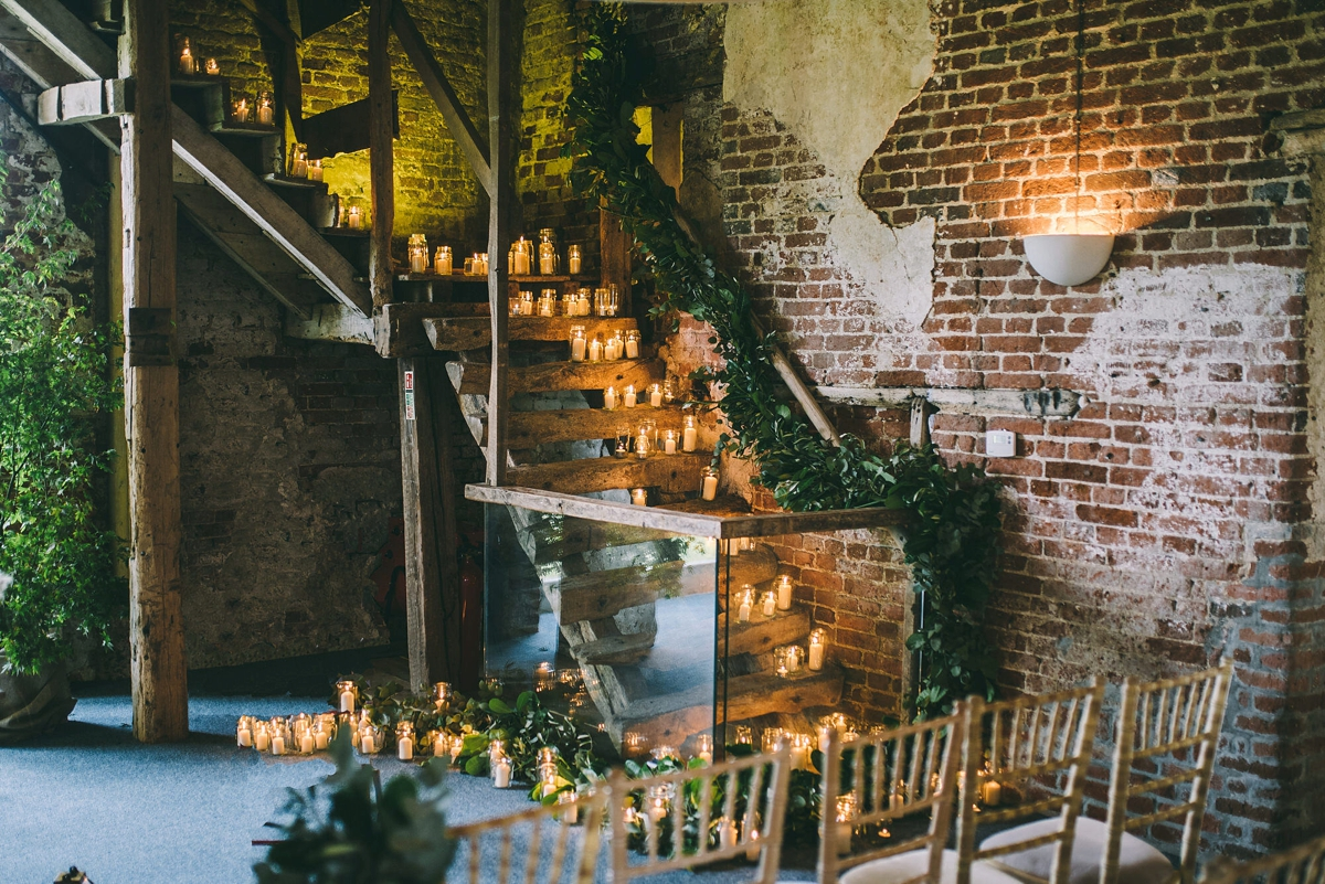 barn wedding ceremony ideas inspiration candles everywhere