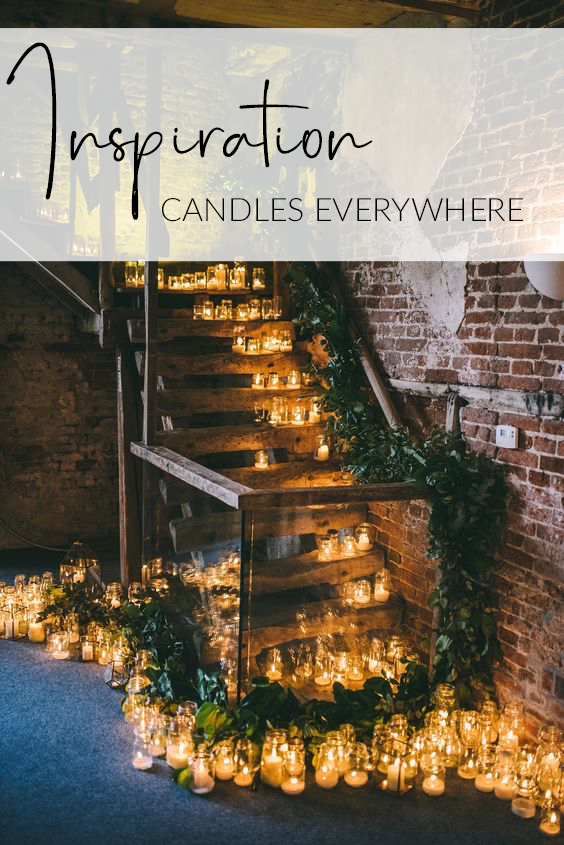 wedding ideas inspiration candles everywhere