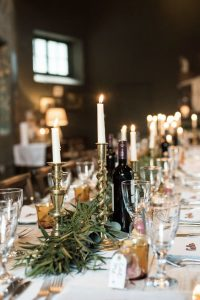 candlesticks wedding styling