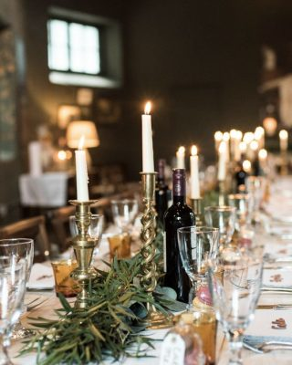 candlesticks wedding styling
