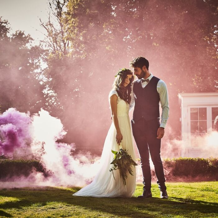 Wedding Smoke Bomb Confetti Alternative Pink