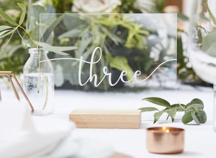 acrylic wedding table numbers