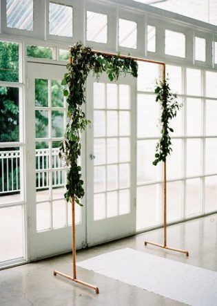 copper-weddin-arch-drapes