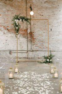 copper wedding arch backdrops