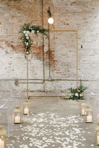 copper wedding arch backdrops