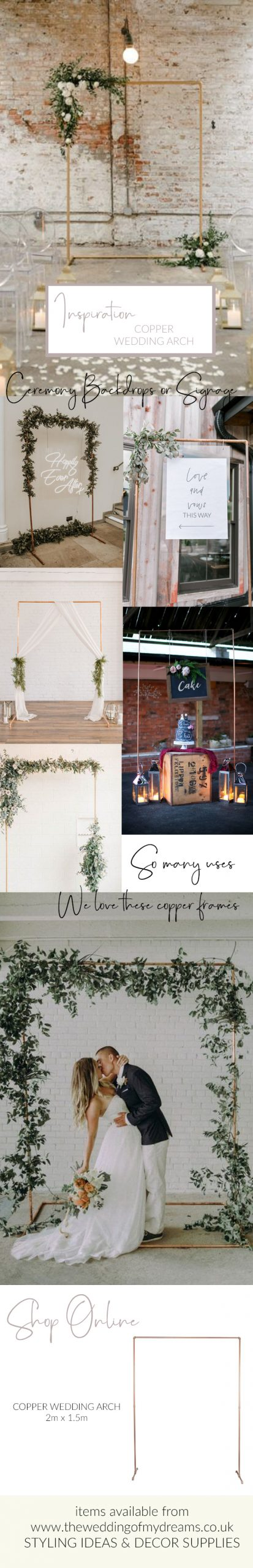 copper wedding arch frames for sale